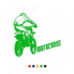Motocross-2 Motor Sticker Çıkartma