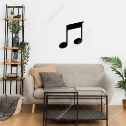 Müzik Notası İşareti Simgesi Duvar Stickerı