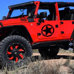 Askeri Yıldız Army Star Off Road Jeep Sticker Çıkartma