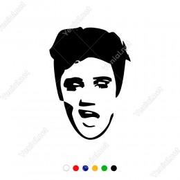 Popun Kralı Elvis Presley Sticker