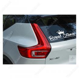 Royal Stance Kral Tacı Sticker Etiket Çıkartma