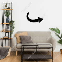 Sağa Doğru Gidebilirsin Ok  İşareti Duvar Stickerı