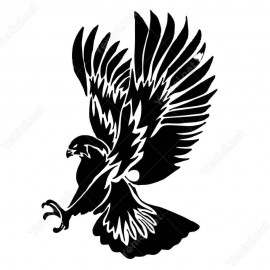 Sert Pençeli Uçan Avcı Kartal Kuş Sitickerı