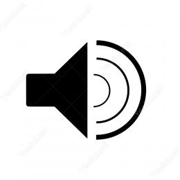 Ses Seslilik İşareti  Duvar Stickerı vitrin