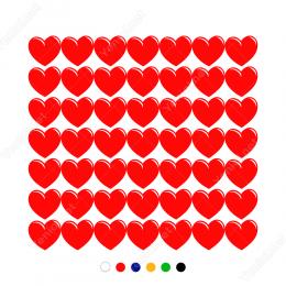 14 Şubat Sevgililer Günü (14x10cm) 49 Adet Sticker Yapıştırma