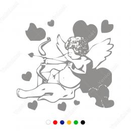 Sevgililer Günü Ok Atan Eros Sticker Yapıştırma