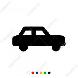 Sevimli Bir Şekilde Duran Oyuncak Araba Sticker
