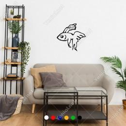 Sevimli Bir Şekilde Duran Yavru Balık Sticker