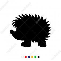 Sevimli Burnu Tatlı Kirpi Yavrusu Sticker