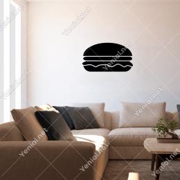 Sosisli Karışık Hamburger Sticker Yapıştırma