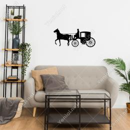 Tarihten Bir Sahne At Arabası Kullanan Adam Stickerı