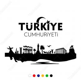 Türkiye Cumhuriyeti Ay Yıldızlı Görsel Sticker