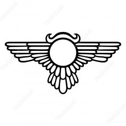 Uçan Böcek Mısır Mitleri Simgesi  Duvar Stickerı