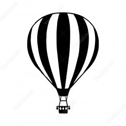 Uçan Gezi Balonu Sticker Yapıştırma