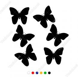 Uçan Kelebekler Duvar Sticker -  58x60cm