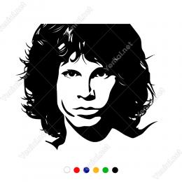 Ünlü Şarkıcı Jim Morrison Duvar Etiket Sticker