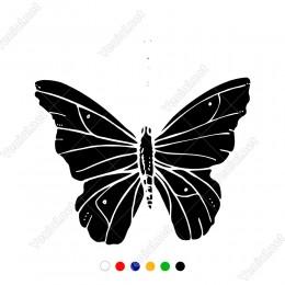 Üzerinde Çizgi Desenleri Bulunan Sevimli Kelebek Sticker