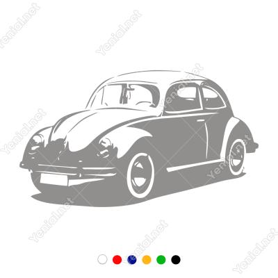 Vosvos Araba Duvar Sticker -  60x34cm