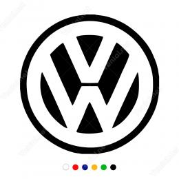 Woswagen Logosu Sticker Yapıştırma araç ve duvar yapıştırma