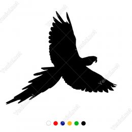 Yukarıya Doğru Uçan Zümrüdü Anka Kuşu Duvar Stickerı