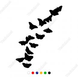 Yukarıya Doğru Uçuşan Minik Kelebekler -  60x55cm