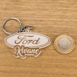 Ford Logolu İsme Özel - Kişiye Özel Pleksi Anahtarlık - Arkadaşa, Sevgiliye Eşe Hediye
