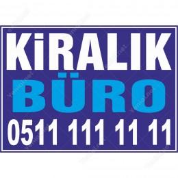 Kiralık Büro Branda Branda Afişi (Mavi Renk)