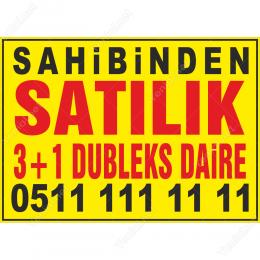 Sahibinden Satılık 3+1 Dubleks Daire Afişi
