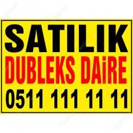 Satılık Dubleks Daire Branda Afişi