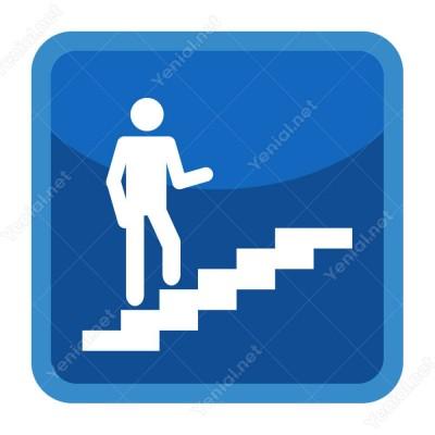 Merdivenden Çıkış Yönlendirme Levhası