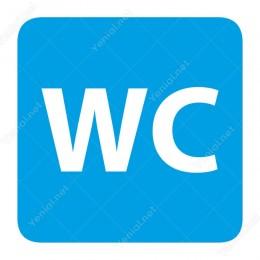 Wc Mavi Yönlendirme Levhası