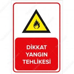 Dikkat Yangın Levhası