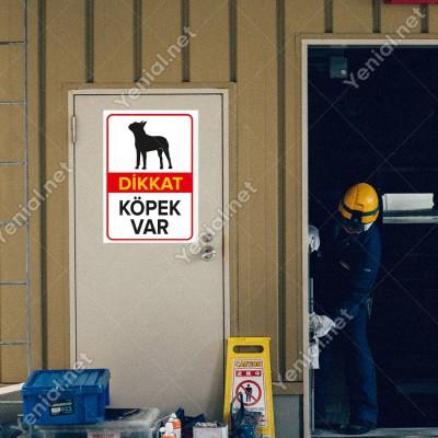 Dikkat Köpek Var Levhası Amerikan Pit Bull Teriyeri