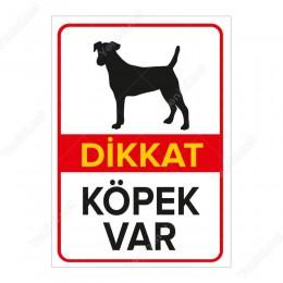 Dikkat Köpek Var Levhası Rottweiler