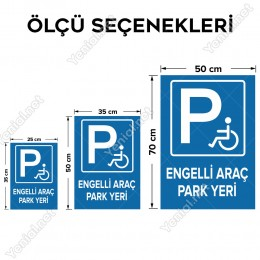 Engelli Yeri Park Edilmez Levhası
