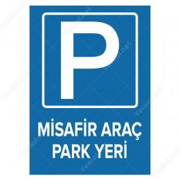 Misafir Park Yeri Levhası Fark için